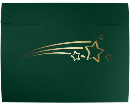 9 1/2 x 12 Shooting Stars Certificate Holders Green Linen