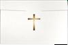 6 1/2 x 9 1/2 Cross Certificate Holders White Linen w/ Gold Foil