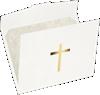 9 1/2 x 12 Cross Certificate Holders White Linen w/ Gold Foil