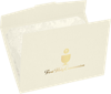 6 1/2 x 9 1/2 First Holy Communion Certificate Holders Natural Linen w/ Gold Foil