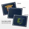 9 1/2 x 12 Certificate Holders Nautical Blue Linen w/ Silver Foil