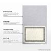 9 1/2 x 12 Certificate Holders Silver Metallic