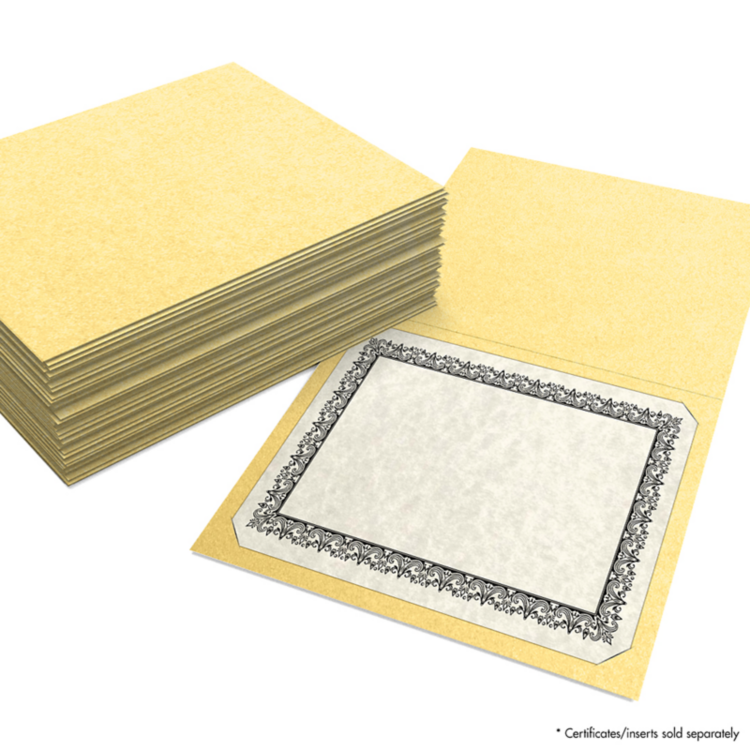 9 1/2 x 12 Certificate Holders Gold Metallic