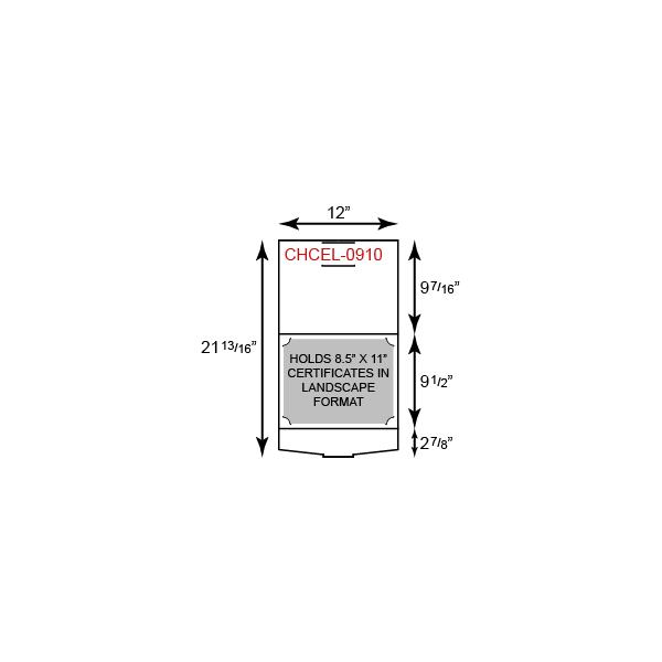 Certificate Holder  - Portfolio Style w/ Landscape Orientation