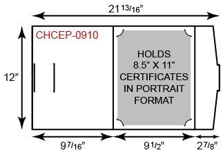 Certificate Holder  - Portfolio Style w/ Portrait Orientation