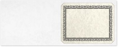Short Hinge Landscape Certificate Holder White Marble Texture