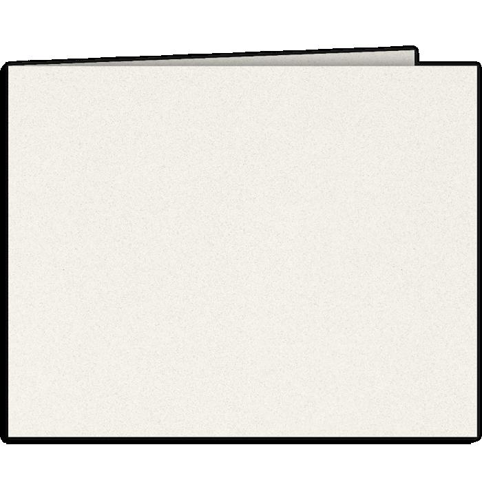 Short Hinge Landscape Certificate Holder Vanilla Bean White