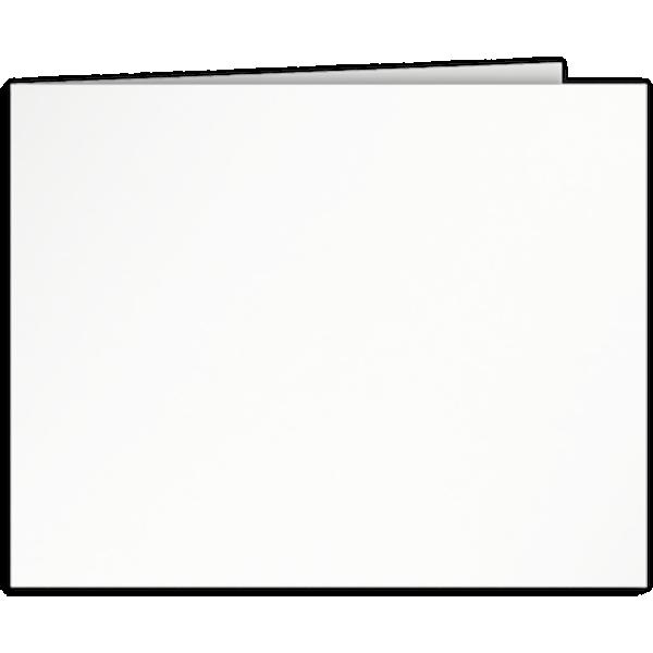Short Hinge Landscape Certificate Holder Bright White
