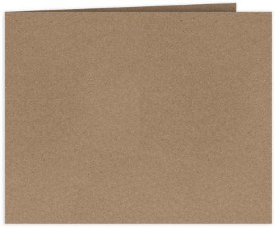 Short Hinge Landscape Certificate Holder Grocery Bag Brown
