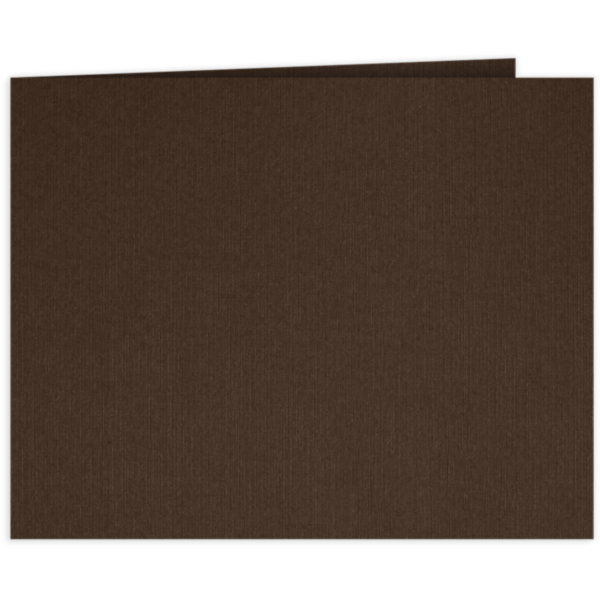 Short Hinge Landscape Certificate Holder Dark Espresso Brown
