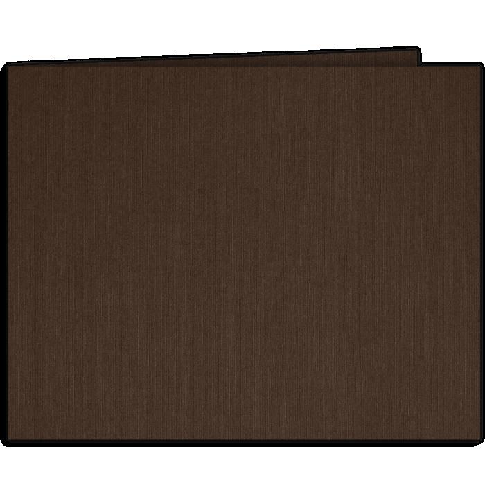 Short Hinge Landscape Certificate Holder Dark Espresso Brown