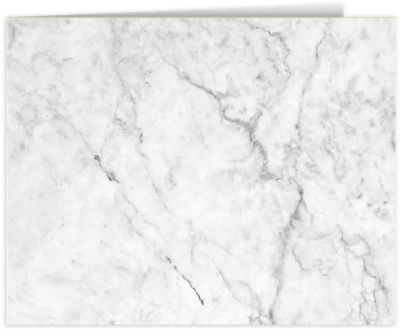 Short Hinge Landscape Certificate Holder White Marble