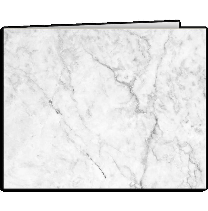 Short Hinge Landscape Certificate Holder White/Gray Marble