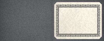Short Hinge Landscape Certificate Holder Iron Gray