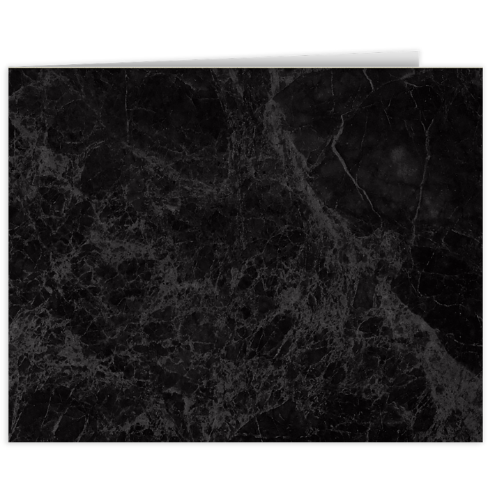 Short Hinge Landscape Certificate Holder Black Marble