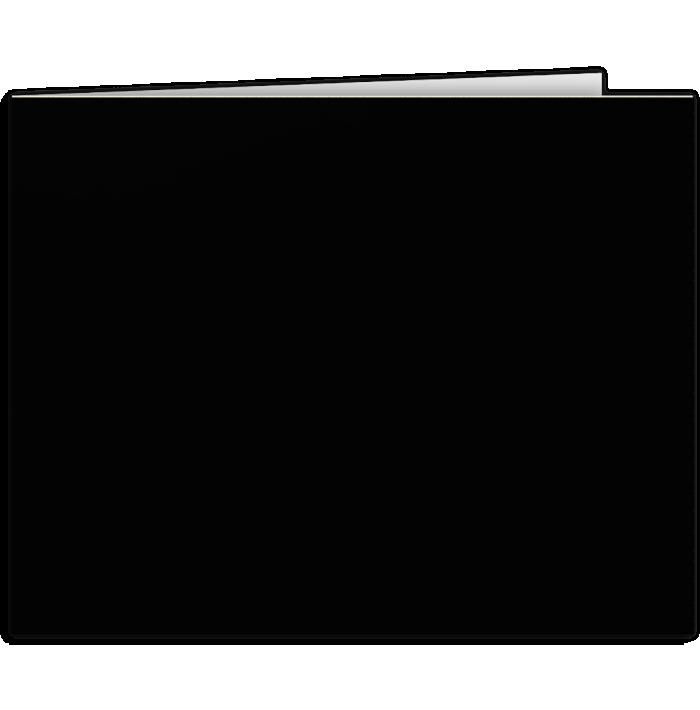 Short Hinge Landscape Certificate Holder Midnight Black