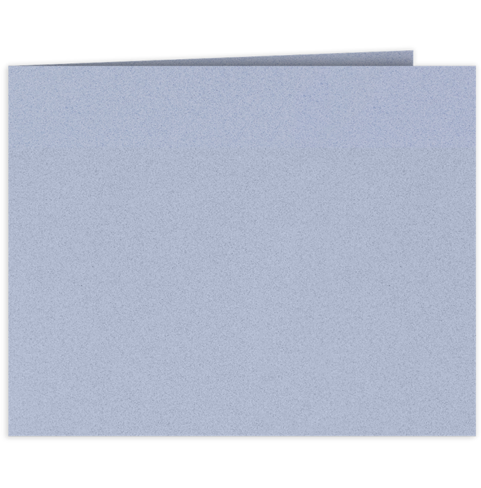Short Hinge Landscape Certificate Holder Cornflower Blue