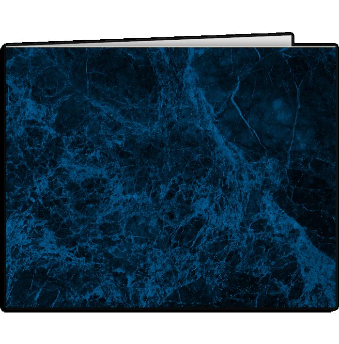 Short Hinge Landscape Certificate Holder Dark Blue Marble