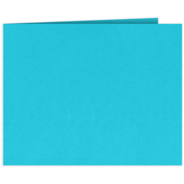 Short Hinge Landscape Certificate Holder Turquoise Blue