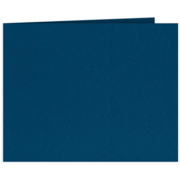 Short Hinge Landscape Certificate Holder Cobalt Blue