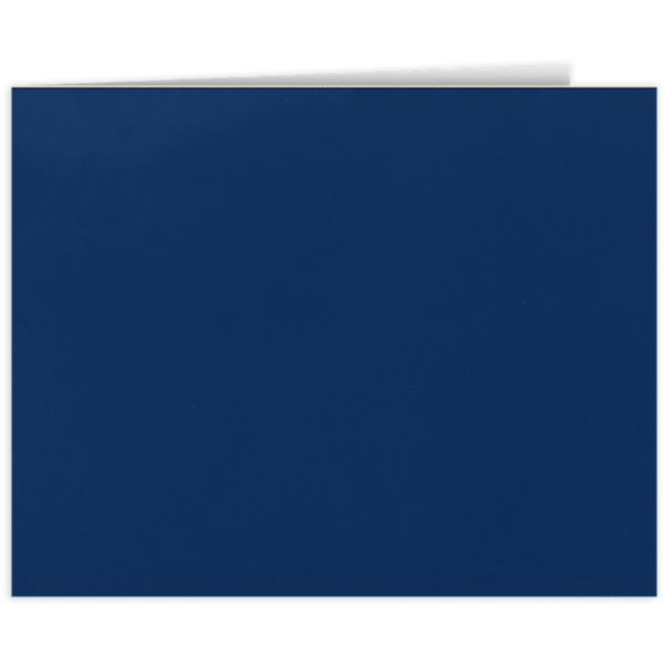 Short Hinge Landscape Certificate Holder Dark Navy Blue