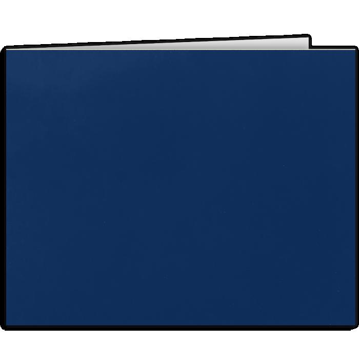 Short Hinge Landscape Certificate Holder Dark Navy Blue
