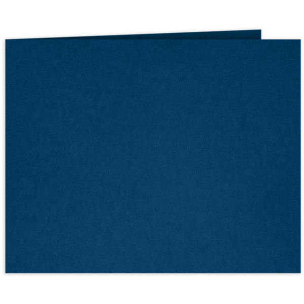 Short Hinge Landscape Certificate Holder Oxford Blue