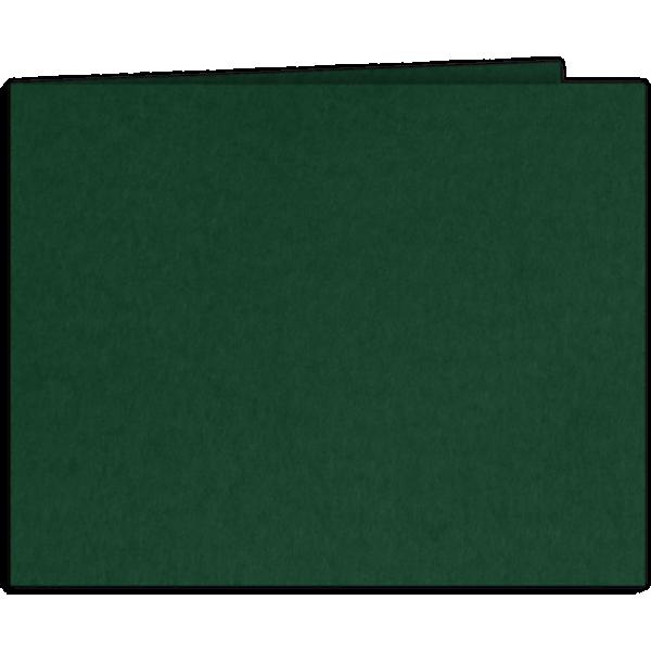 Short Hinge Landscape Certificate Holder Dark Pine Green