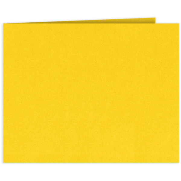 Short Hinge Landscape Certificate Holder Sunshine Yellow