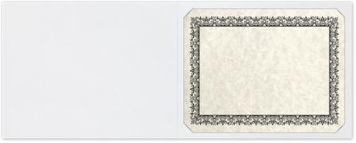 Short Hinge Landscape Certificate Holder Rosewood Marble