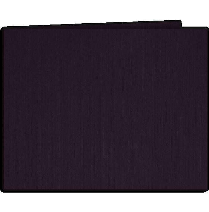 Short Hinge Landscape Certificate Holder Fig Purple