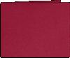 Short Hinge Landscape Certificate Holder Chili Red