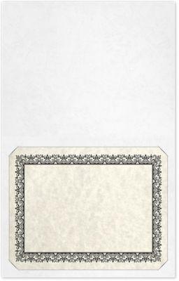 Long Hinge Landscape Certificate Holder White Marble Texture