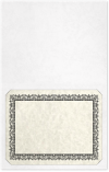 Long Hinge Landscape Certificate Holder White Marble Texture