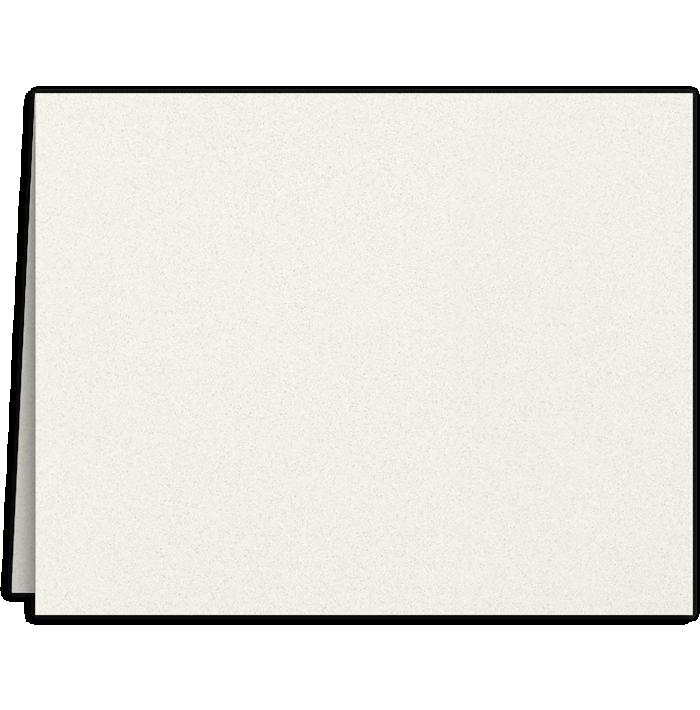 Long Hinge Landscape Certificate Holder Vanilla Bean White