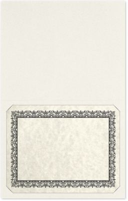 Long Hinge Landscape Certificate Holder Vanilla Bean White
