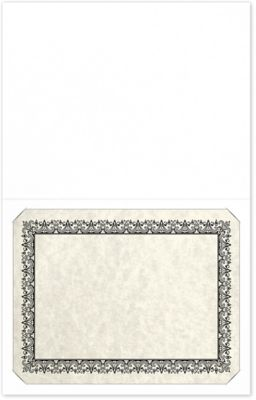 Long Hinge Landscape Certificate Holder Bright White - 100% Recycled