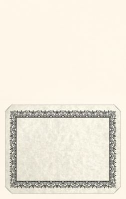 Long Hinge Landscape Certificate Holder Bright White