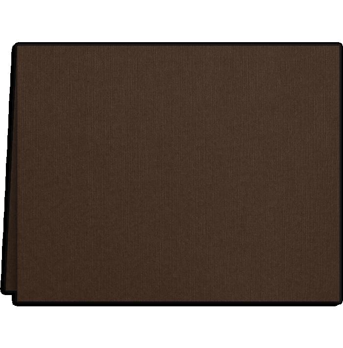 Long Hinge Landscape Certificate Holder Dark Espresso Brown