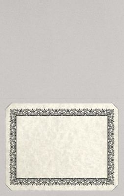 Long Hinge Landscape Certificate Holder Gray Mist