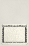 Long Hinge Landscape Certificate Holder Snowstorm Gray