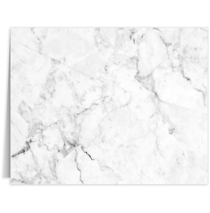 Long Hinge Landscape Certificate Holder White/Gray Marble