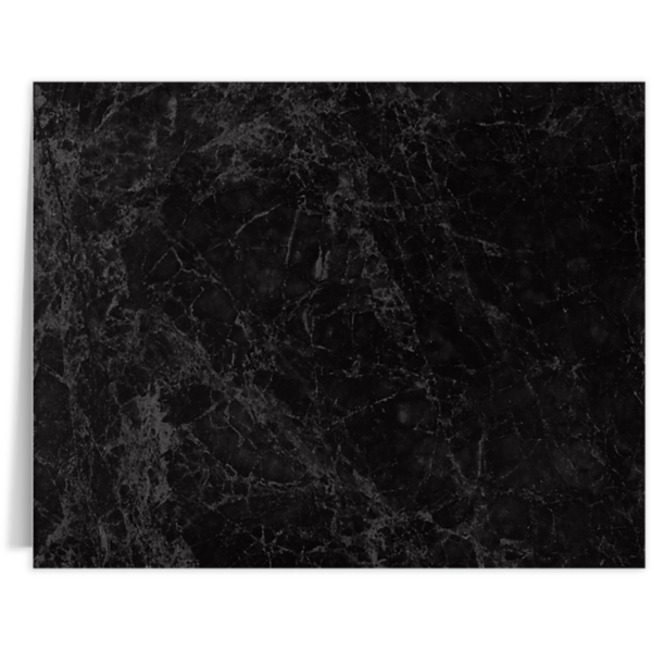 Long Hinge Landscape Certificate Holder Black Marble
