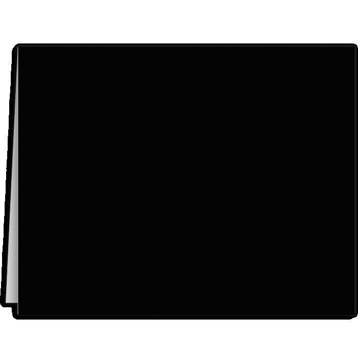 Long Hinge Landscape Certificate Holder Midnight Black