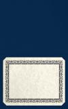 Long Hinge Landscape Certificate Holder Inkwell Blue