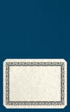 Long Hinge Landscape Certificate Holder Cobalt Blue