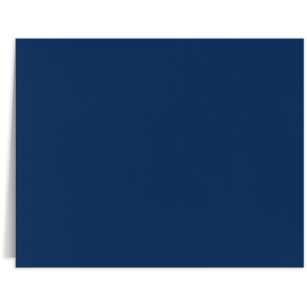 Long Hinge Landscape Certificate Holder Dark Navy Blue