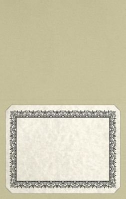 Long Hinge Landscape Certificate Holder Sage Green