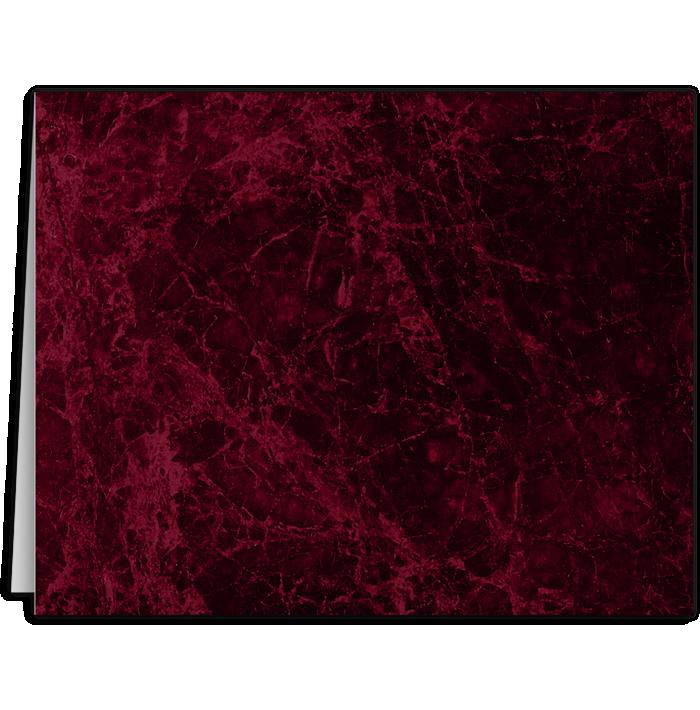 Long Hinge Landscape Certificate Holder Rosewood Marble