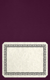 Long Hinge Landscape Certificate Holder Deep Maroon